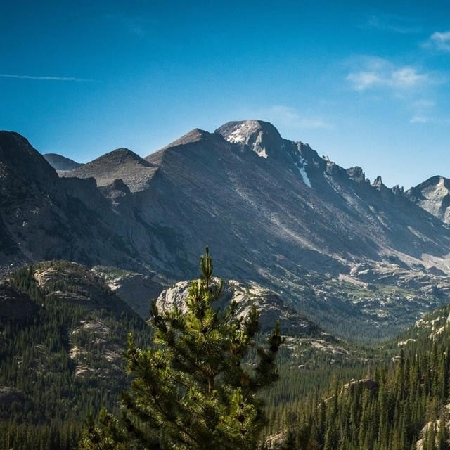 scenic photo of a mountain in Colorado