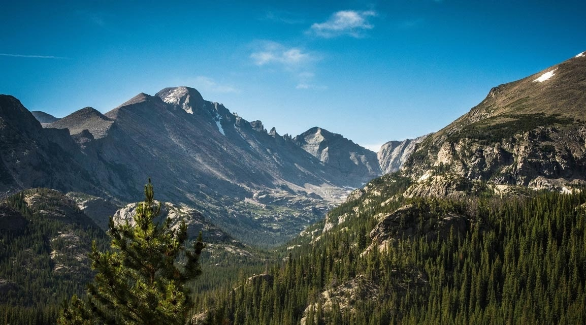 scenic photo of mountains in Colorado